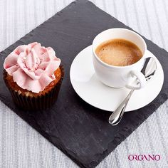 Coffee and rose cupcake