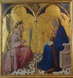 Siena Ambrogio Lorenzetti 1343 Annunciazione (my photo)