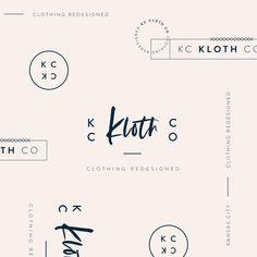 KC based clothing company logo by Oregon Lane Studio Fashion Logo Design, Modern Logo Design, Graphic Design, Fashion Fonts, Minimalist Design, Diy Design, Design Ideas, Clothing Brand Logos, Clothing Company