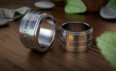 Ring Clock, um relógio moderno em forma de anel - Somente Coisas Legais