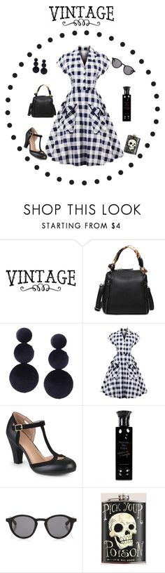 """""""Plaid Chess"""" by nashalymoe ❤ liked on Polyvore featuring Journee Collection, Profumi Del Forte, Linda Farrow and vintage"""