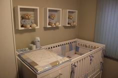 box shelves with stuffed animals Baby Boy Room Decor, Baby Boy Rooms, Baby Bedroom, Baby Boy Nurseries, Nursery Room, Girl Room, Kids Bedroom, Room Accessories, Baby Boy Shower