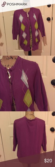 🆕 Merona argyle cardigan nwt Super cute! Brand new. 👺NO TRADES DONT ASK! ✌🏼️Transactions through posh only!  😻 friendly home 💃🏼 if you ask a question about an item, please be ready to purchase (serious buyers only) ❤️Color may vary in person!-inc. purple!  💗⭐️Bundles of 5+ LISTINGS are 5️⃣0️⃣% off! ⭐️buyer pays extra shipping if likely to be over 5 lbs 🙋thanks for looking! Merona Sweaters Cardigans