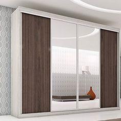 O guarda-roupa é peça essencial no quarto para deixar o espaço organizado. Os modelos com espelho na porta são elegantes e dão a sensação de amplitude no ambiente. #Prod102446