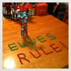 Elf on the Shelf message ideas