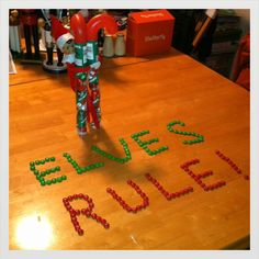 Elves Rule - love that he brought a treat!