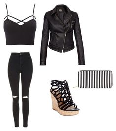 """""""inspired by Derrick Morgan from criminal minds"""" by alexissneezee ❤ liked on Polyvore featuring Charlotte Russe, Topshop, Charles by Charles David, Barbour International, New Look and plus size clothing"""