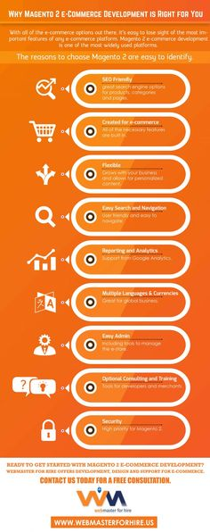 Webmaster For Hire | Why Magento 2 e-Commerce Development is Right for You http://www.liveinfographic.com/i/webmaster-for-hire-why-magento-2-e-commerce-development-is-right-for-you/ Tags: #infographic  #infographics #popular #pinterest #pinterestinfographics