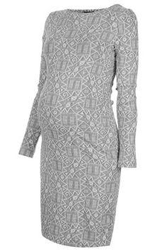 Maternity Ikat Bodycon Dress - Maternity Dresses - Maternity  - Clothing