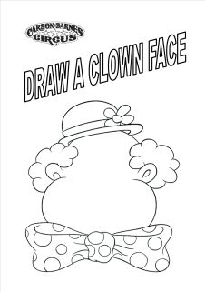 Draw a Clown Face Coloring Sheet