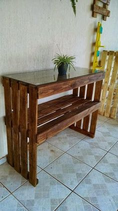 pallet idea with old wood