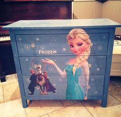 Frozen dresser made by Maison Mint Chalk paint frozen Elsa