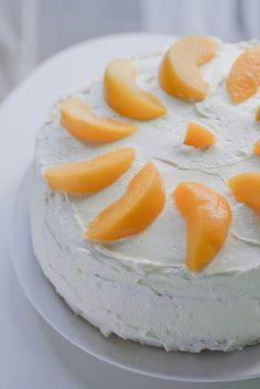 Peach torte, birthday peach cake