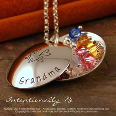 Personalized Jewelry  Hand Stamped Grandma by IntentionallyMe, $80.00