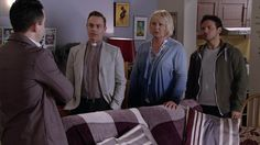 FROM ITV STRICT EMBARGO - No Use Before Tuesday 31 May 2016 Coronation Street - 8920 Monday 6 June 2016 - 1st Ep Todd Grimshaw [BRUNO LANGLEY] arrives home and announces that he's been to the police and reported Tony for Callum's murder. Eileen Grimshaw [SUE CLEAVER], Jason Grimshaw [BRUNO LANGLEY] and Billy Mayhew [DANIEL BROCKLEBANK] listen in stunned silence. Picture contact: david.crook@itv.com on 0161 952 6214 Photographer - Mark Bruce This photograph is (C) ITV Plc and can only be…