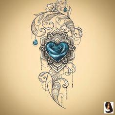 Ich liebe den Look - Tattoo-Ideen - I love the look - Tattoo Ideas - # Pretty Tattoos, Unique Tattoos, Beautiful Tattoos, Small Tattoos, Cool Tattoos, Tattoos Motive, Leg Tattoos, Body Art Tattoos, Sleeve Tattoos