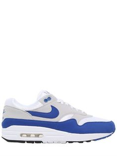 NIKE AIR MAX 1 ANNIVERSARY EDITION SNEAKERS, OFF WHITE/ROYAL. #nike #shoes #sneakers
