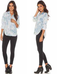 Bella Dahl Glacier Button Down Shirt - http://aquaboutique.com.au/shop/bella-dahl-glacier-button-down-shirt/