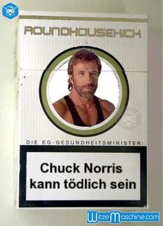 Chuck Norris kann tötlich sein - Zigarettenschachtel