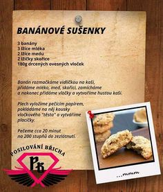 Banánové sušenky Vegetarian Recipes, Cooking Recipes, Healthy Recipes, Good Food, Yummy Food, Vegan Cake, Muesli, Holiday Cookies, Desert Recipes