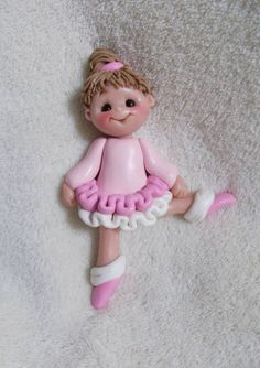 dancer ballerina child gift personalized Christmas ornament polymer clay dancing dance sculpture