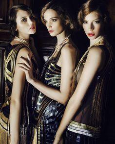 ca339e80fd59 Gatsby Girls by Daniela Rettore for Ladies Magazine  Black  Gold