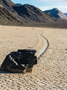 Moving Rocks, The Racetrack, Death Valley - Look at the size of that rock and the distance it has traveled.