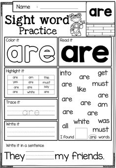 Nice Kindergarten Practice Worksheets Sight Words that you must know, Youre in good company if you?re looking for Kindergarten Practice Worksheets Sight Words Sight Words, Sight Word Practice, Sight Word Worksheets, Sight Word Activities, Classroom Activities, Free Worksheets, Reading Worksheets, Blends Worksheets, Fluency Activities