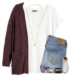 When Will I Start Relating To Love Songs? by evieleet on Polyvore featuring H&M, Converse, Kendra Scott, Topshop, Halcyon Days, Clé de Peau Beauté, NARS Cosmetics, NYX and Hollister Co.