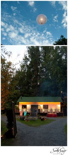 Airstar Lighting.  Chic Camp Style Wedding of Candice & Chip – the Welcome BBQ » Sparkliatti