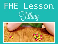FHE Lesson For Youngsters: Tithing scittels Toddler Sunday School, Kids Sunday School Lessons, Family Home Evening Lessons, Sunday School Crafts, Lessons For Kids, Fhe Lessons, Primary Lessons, Object Lessons, Bible Crafts For Kids