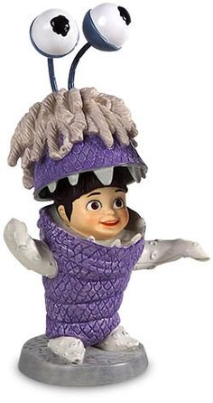 WDCC Disney Classics Monsters Inc Boo Tiny Terror #WDCCDisneyClassics #Art.  Boo's Costume Hood: Wire hinges to open and close costume hood.
