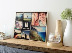 Make your Instagram moments stand out with this wood wall art design you can personalize with your own monogram. Natural wood grains add a rustic touch that compliments photo filters.