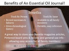 Benefits of An Essential Oil Journal