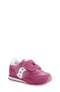 Saucony 'Jazz' Hook & Loop Sneaker (Baby, Walker & Toddler) available at #Nordstrom