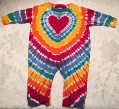 Unisex Dharma Trading Co Size 18 Month Outfit One Pc Romper Tie Dye Playsuit | eBay