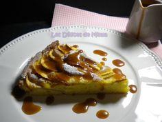 Tarte aux pommes régressive et sa sauce au caramel beurre salé