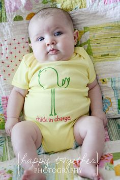 chick in charge onesie