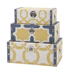 IMAX Andrea Storage Trunks   Set Of 3
