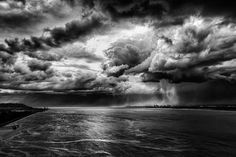 Storm over La Seine by Jan Gravekamp