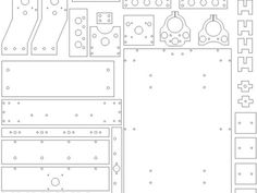 This is the dxf file for AnniRouter boards and parts. Please use either laser cutter and/or CNC router to build it. Note that the thickness of the board is 12mm.