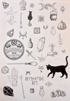 Black cat tattoo design ideas 41 halloween tattoos Black Cat Tattoo Design Ideas - We Otomotive Info Kritzelei Tattoo, Tattoo Drawings, Body Art Tattoos, New Tattoos, Small Tattoos, Tatoos, Print Tattoos, Mirror Tattoos, Chain Tattoo