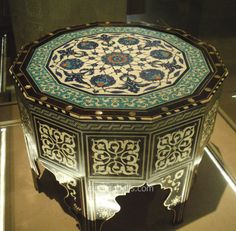 xx..tracy porter..poetic wanderlust..-Iznik 16th Tile-Top Table Turkish Tiles, Turkish Art, Tile Top Tables, Style Marocain, V & A Museum, Drum Table, Wood Clocks, Hand Painted Furniture, Vintage Crafts