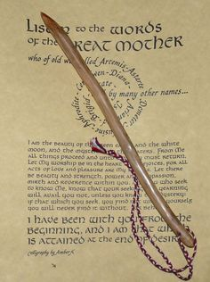 """Keeper Of Secrets"" Beautiful Handcrafted Yew Wood Wand .Pagan/wiccan/druid"