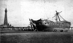 HMS_Foudroyant_wreck Merchant Navy, Merchant Marine, Blackpool England, Blackpool Fc, Plymouth, Old Pictures, Old Photos, Old Sailing Ships, The Last Ship