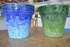 Mosaic Planters, Mosaic Vase, Mosaic Flower Pots, Mosaic Diy, Mosaic Crafts, Diy Art Projects, Mosaic Projects, Diy Garden Projects, Projects To Try
