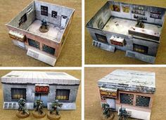 Paper Buildings For RPG Games - by Germy       -   A page full of Paper Buildings in 25 mm and 28 mm scales, perfect for RPG games by British designer Jeremey Claridge, from Germy website.