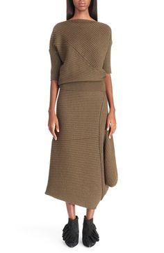 J.W.ANDERSON Rib Knit Merino Wool Blend Sweater