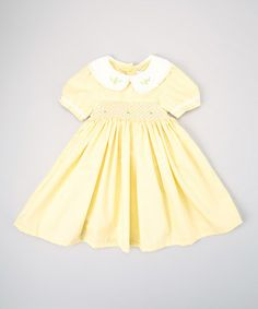 Take a look at this Yellow Rose Smocked Dress - Infant & Toddler by Berry Blues on #zulily today!