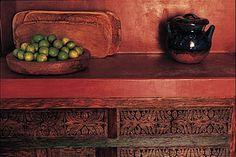 Cocinas Mexicanas Tradicionales - All photos © Melba Levick (countertop de concreto pintado)